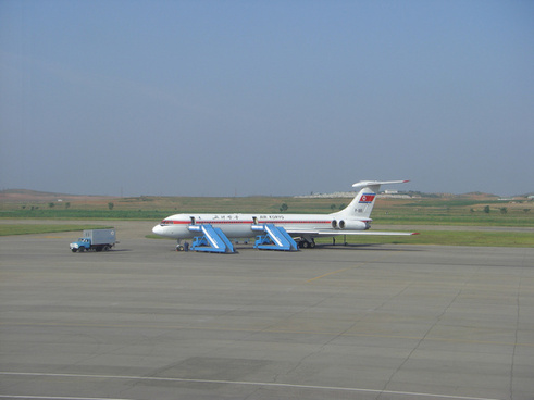 air koryo plane sunan aiport north korea