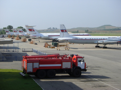 Air Koryo Planes Sunan Airport North Korea