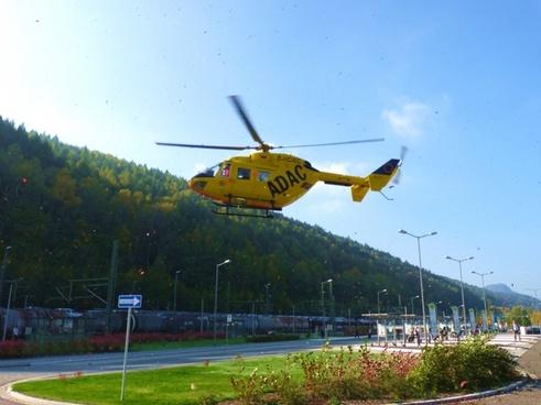 air rescue landing adac