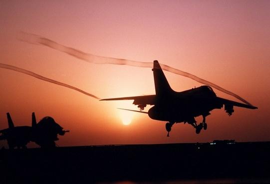 aircraft fighter jet a-7 corsair