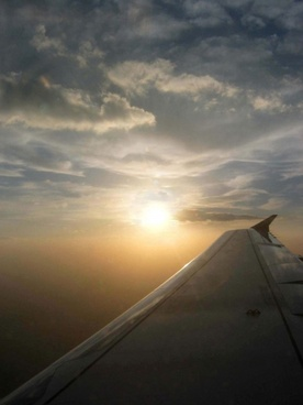 airliner sunset