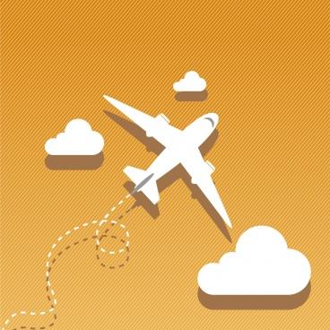 airplane background 3d white design clouds decoration