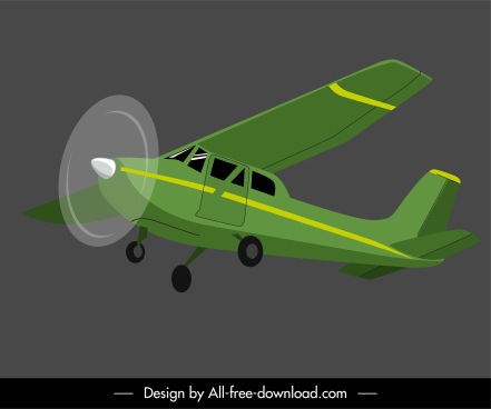 airplane icon motion sketch 3d design