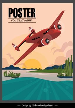 airplane poster dynamic scene sketch