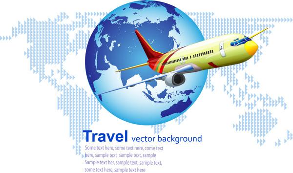 airplane travel background