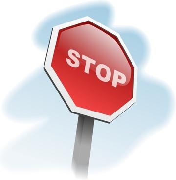 Aj Stop Sign Angled clip art