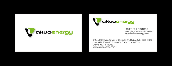 akuo energy business card