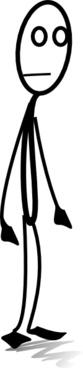 Al Standing clip art