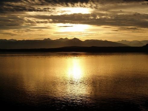 alaska sunset glacier