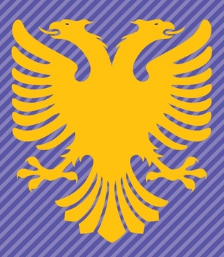Albania Flag Double Headed Eagle