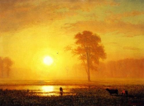 albert biertadt painting oil on canvas