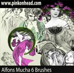 Alfons Mucha Brushes