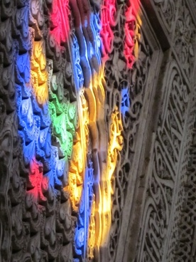 alhambra stained glass light