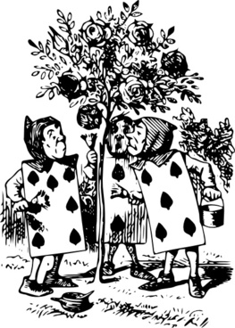 Alice In Wonderland Card Men clip art