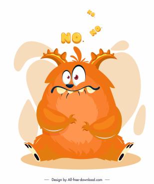 alien monster icon funny cartoon character design