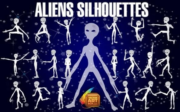 Aliens Silhouettes