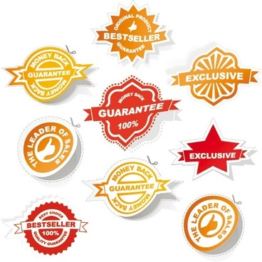 all kinds of badge labels 03 vector