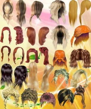 all kinds of beautiful hair psd