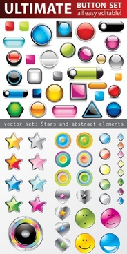 all kinds of crystal texture of threedimensional icons vector