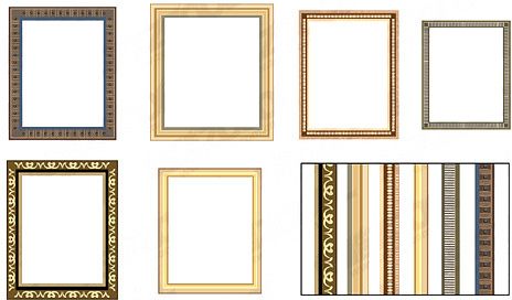 all kinds of frame 2 vector