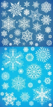 snowflakes background templates flat classical shapes decor