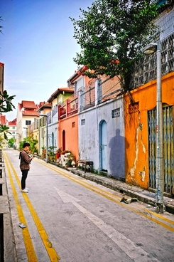 alley architecture city colonial color home house