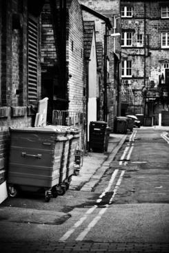 alleyway back alley bin