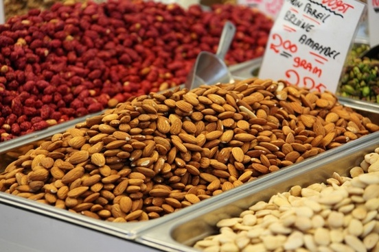 almond brown closeup