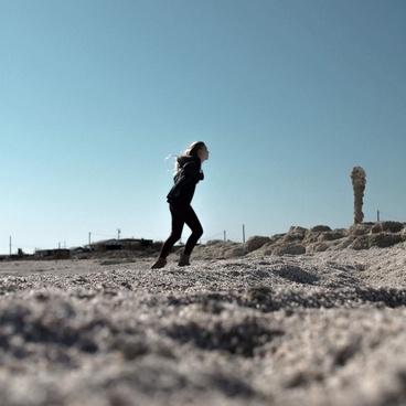 alone beach couple desert endurance engagement