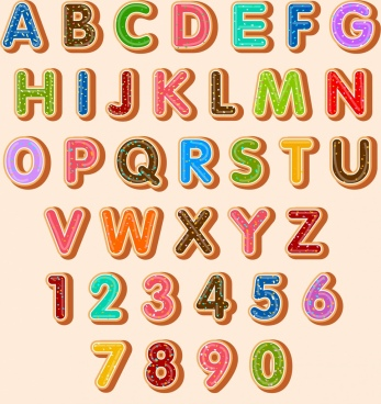 alphabet backdrop multicolored decoration capital lettering
