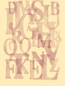 alphabet background artistic texts layout retro design
