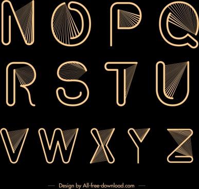 alphabet background black yellow design rays decor