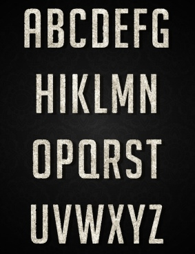 alphabet background capital lettering black white decor