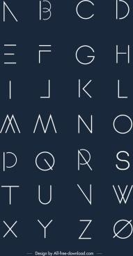 alphabet background classical flat design