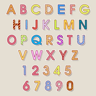 alphabet background colorful capital letters decoration flat design