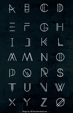 alphabet background contrasted flat classical sketch