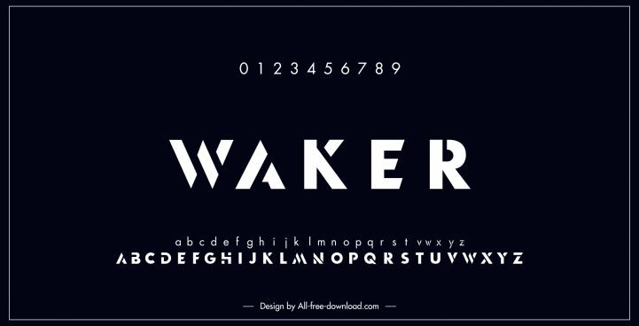alphabet background modern flat dark black design