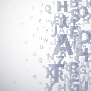alphabet gray background vector graphics