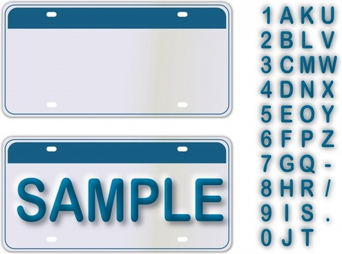 sign card templates simple modern alphanumeric decor