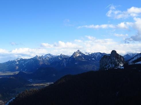 alpine alpine panorama tegelberg