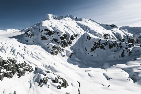 alpine altitude cold daytime frozen glacier high