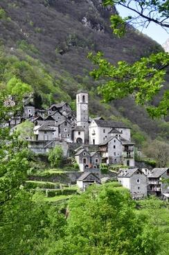 alpine bergdorf village