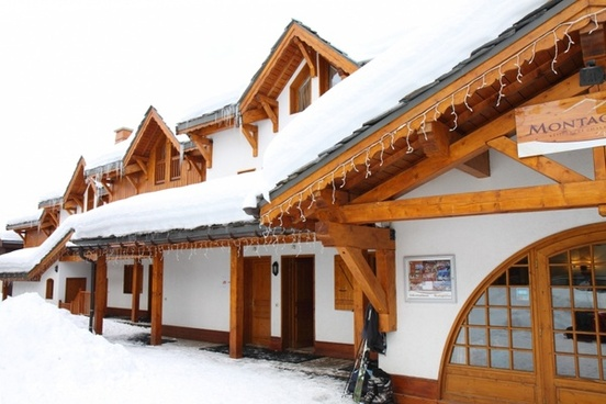 alpine building cabin