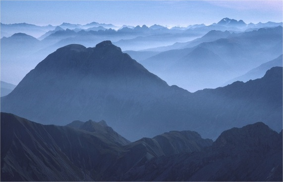 alpine mood distant view