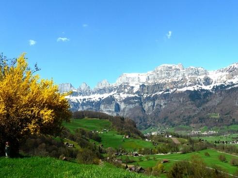 alpine mountains glacier