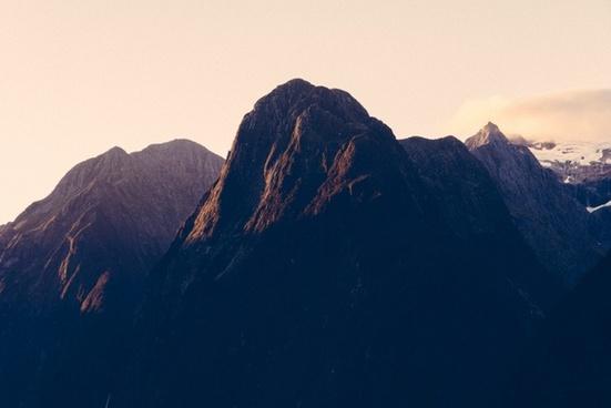 alps dawn evening fog landscape morning mountain