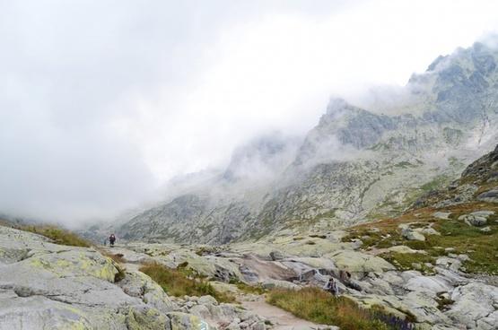 altitude cloud daytime fog high hiking hill