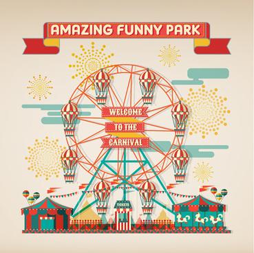 amazing circus show vector illustration