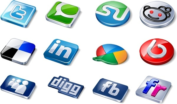 Amazing social icons icons pack
