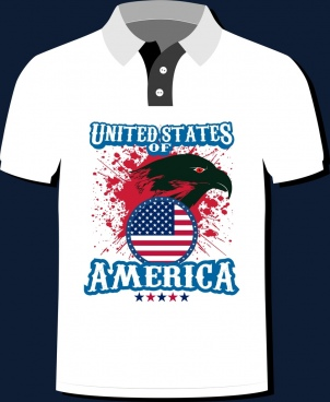 america tshirt template grunge decor eagle flag icons